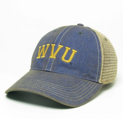 WVU Mountaineers Legacy Adjustable Washed Twill Hat