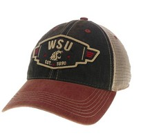 Washington State Cougars Legacy Adjustable Washed Twill Hat