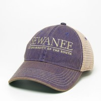 Unstructured cap with School Logo, 100% Cotton