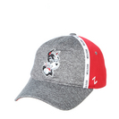 HEATHER GRAY/RED