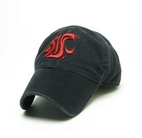 Washington State Cougars Legacy Fitted Washed Twill Hat