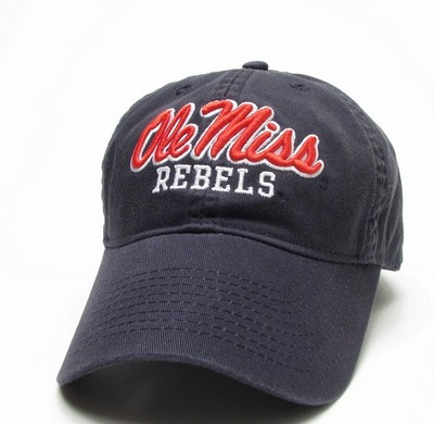 Ole Miss Legacy Fitted Washed Twill Hat