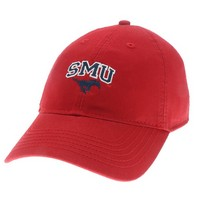 SMU Mustangs Legacy Youth Adjustable Washed Twill Hat