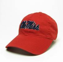 Ole Miss Legacy Youth Adjustable Washed Twill Hat