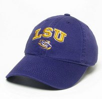 LSU Tigers Legacy Youth Adjustable Washed Twill Hat