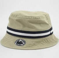 Flat top bucket hat with embroidered Penn State University, 100% Cotton. Laid back style with Penn State spirit! Click photo to view other possible graphic options.