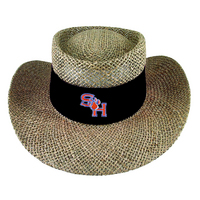 LogoFit Tournament Straw Gambler Hat