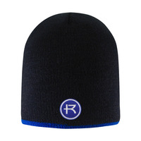 LogoFit Beanie with contrasting stripe  Bright Stripe