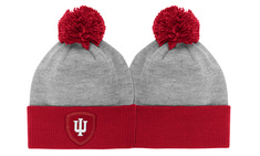 Cuffed Knit Hat with Pom