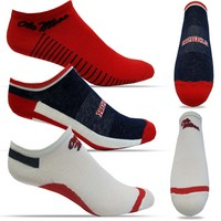 Ole Miss TopSox High Tech Extra Low Cut Crew Sock