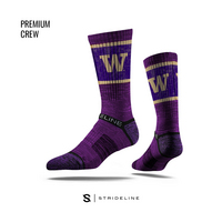 Strideline Purple Crew Sock