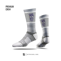Strideline Grey Crew Sock