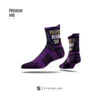 Strideline Mid Purple Sock