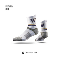 Strideline White Mid Sock