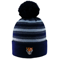 LogoFit Doc Marl Striped Cuff Hat With Pom