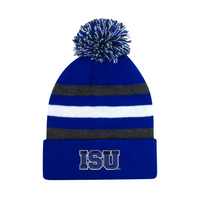 LogoFit Halftime Junior Striped Cuff Hat With Pom
