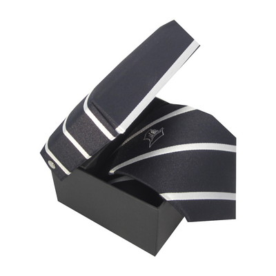 Diagonal Woven Silk Tie in Box