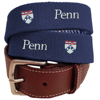 Peter Millar UPenn Canvas Belt
