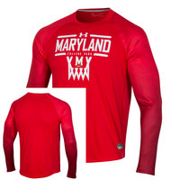 Under Armour Mens LS Hooded On Court Tee