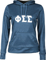 Phi Sigma Sigma Womens Pullover Hoodie Heather
