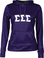 Sigma Sigma Sigma Womens Pullover Hoodie Heather