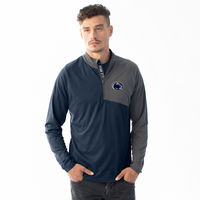 Levelwear Mens Slant Text Pinnacle Quarter Zip Sweatshirt