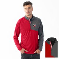 Levelwear Mens Slant Text Quarter Zip