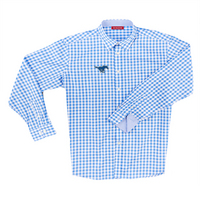The Collection at SMU Boss Gingham Long Sleeve Sport Shirt