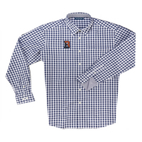 The Collection at Bucknell Boss Gingham Long Sleeve Sport Shirt