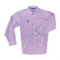 The Sewanee Tigers Collection Boss Gingham Long Sleeve Sport Shirt