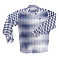 The Collection at Yale Boss Gingham Long Sleeve Sport Shirt