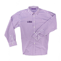 The Collection at LSU Boss Gingham Long Sleeve Sport Shirt