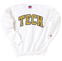 Georgia Tech Champion Crew Sweatshirt