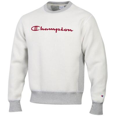 Champion 100th Anniversary Reverse Out Reverse Weave Crew