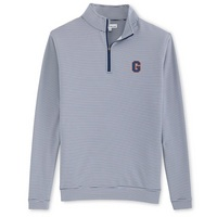 Peter Millar Perth Mini Stripe Performance Quarter Zip