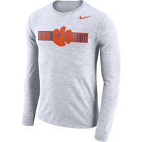 Nike Long Sleeve Dri Fit Slub Logo Tee