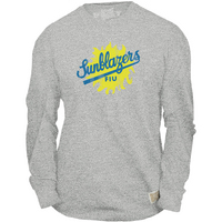 Retro Brand Sunblazers Mock Twist Long Sleeve Tee