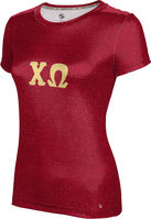 Chi Omega Womens Short Sleeve Tee Heather (Online Only)
