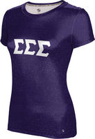 Sigma Sigma Sigma Womens Short Sleeve Tee Heather (Online Only)