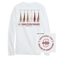 Southern Tide LS Gameday Fish Hooks Tee