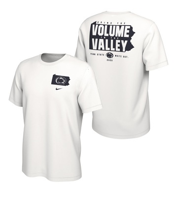 Nike PSU 2020 White Out College Football SS Tee