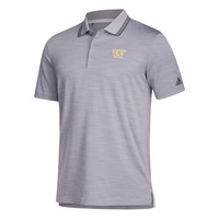 Adidas Mens Ultimate Textured Stripe Polo