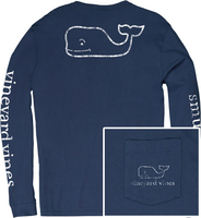 Vineyard Vines Vintage Whale Long Sleeve Tee