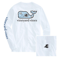 Vineyard Vines Cooler Whale Long Sleeve Pocket Tee