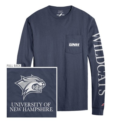 688a83005 League Vintage Washed Long Sleeve Pocket T Shirt | The UNH Bookstore