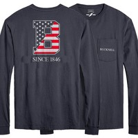 League Vintage Washed Long Sleeve Pocket T Shirt