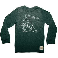 Retro Brand Mock Twist Long Sleeve T Shirt