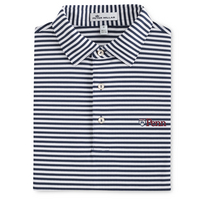 Peter Millar Touchdown Stripe Mesh Polo