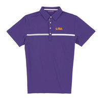 The Collection at LSU Luxtec Champions Color Block Polo