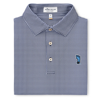 Peter Millar Greek Gingham Printed Stretch Jersey Polo